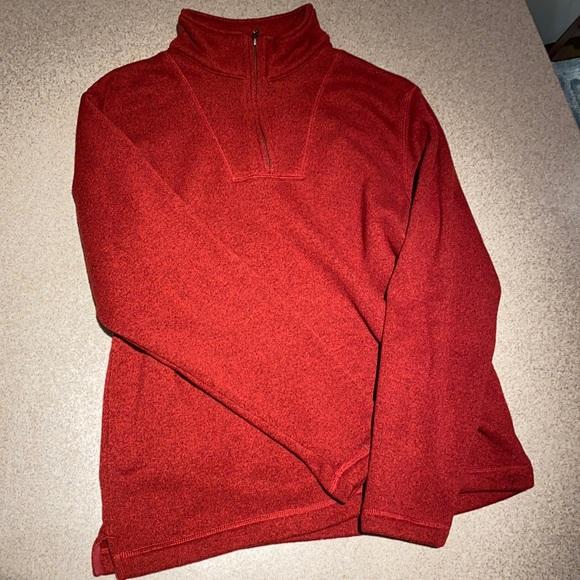 Eddie Bauer Half Zip Sweatshirt in Red Size M